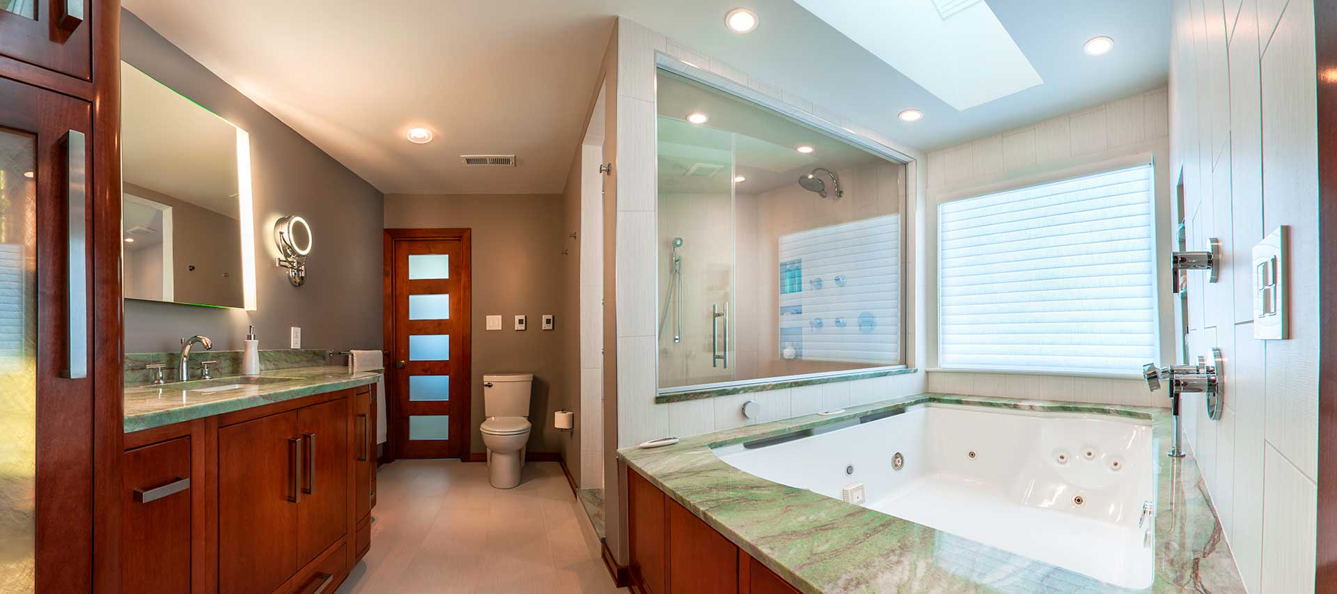 Contemporary design bathroom remodel in Terre Haute, IN